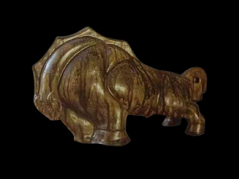 万四云陶瓷艺术《奔牛》